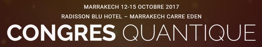 Très honorée d'intervenir au premier Congrès Quantique de Marrakech